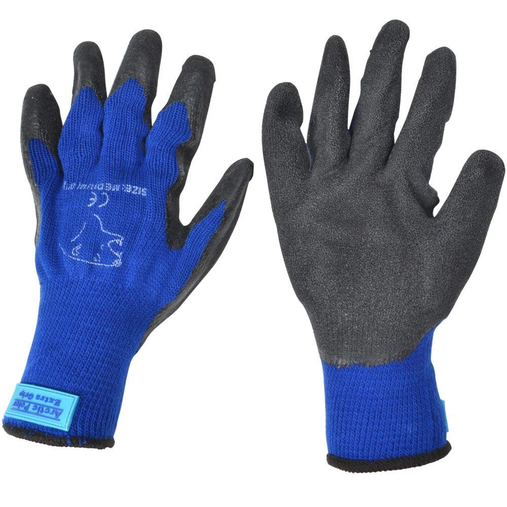 ARTIC POLAR EXTRA WARM AND GRIP WINTER WORKING GLOVE SIZE MEDIUM (9) BLUE