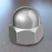 Hex Dome Nut - DIN 1587 - A2 Stainless Steel