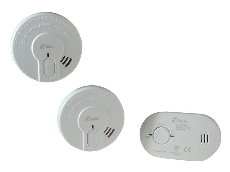 Kidde Twin Optical Smoke & Carbon Monoxide Alarm Set