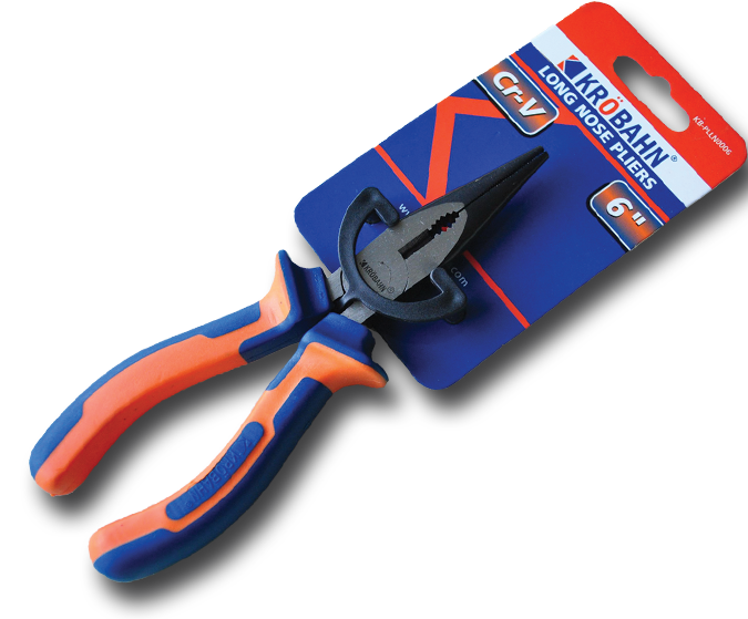 LONG NOSE PLIERS 6""