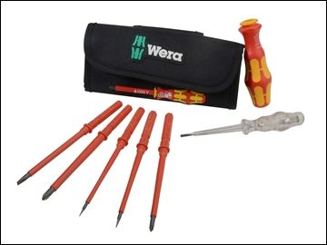 Wera Kraftform VDE compact Interchangeable Blade Screwdriver Set 7 Piece