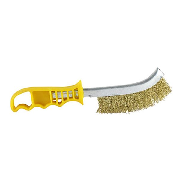 Yellow Handle Wire Brush Brass YWHB