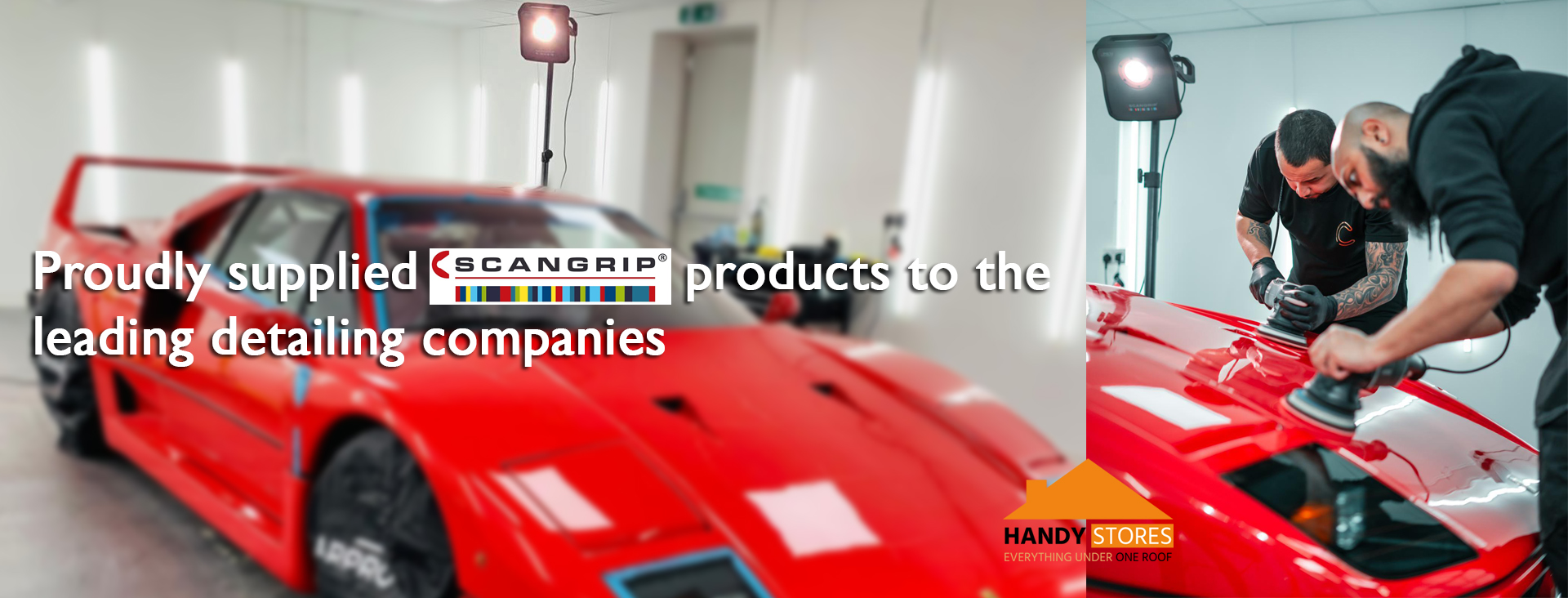 Handystores supplied scangrip products to the leading detailing companie in London